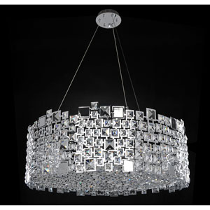Dolo Chrome 12-Light Pendant with Firenze Clear Crystal