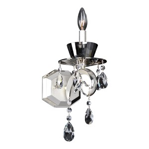 Locatelli Two-Tone Silver One-Light Wall Bracket with Firenze Clear Crystal