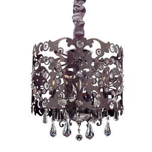 Bizet Sienna Bronze Four-Light Chandelier with Firenze Clear Crystal