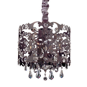 Bizet Black Pearl Four-Light Chandelier with Firenze Clear Crystal
