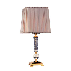 Portables 24K Gold One-Light 29-Inch High Table Lamp