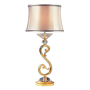 Portables Two-Tone 24K Gold One-Light Table Lamp