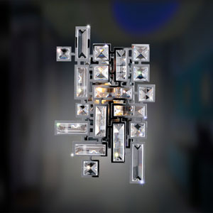 Vermeer Chrome  Two-Light Sconce with Swarovski Strass Clear Crystal