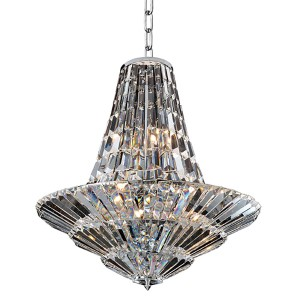 Auletta Chrome 18-Light 30-Inch Wide Chandelier with Firenze Clear Crystal