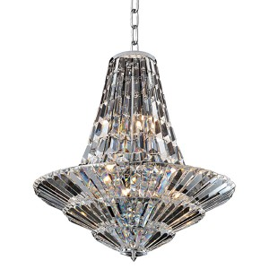 Auletta Chrome 12-Light 24-Inch Wide Chandelier with Firenze Clear Crystal