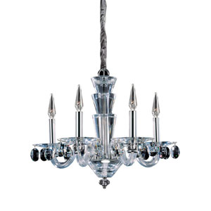Fanshawe  Chrome Five-Light Chandelier with Swarovski Strass Clear Crystal