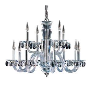 Fanshawe  Chrome 12-Light Chandelier with Swarovski Strass Clear Crystal