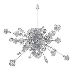 Constellation Chrome 30-Light 42-Inch Wide Pendant with Firenze Clear Crystal