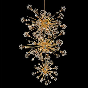 Constellation 18K Gold 50-Light Pendant with Firenze Clear Crystal
