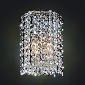 Milieu Metro Chrome One-Light Sconce with Firenze Clear Crystal