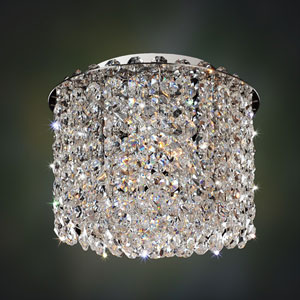 Milieu Metro Chrome Two-Light Flush Mount with Firenze Clear Crystal