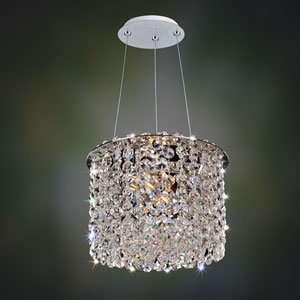 Milieu Metro Chrome Two-Light Mini Pendant with Firenze Clear Crystal