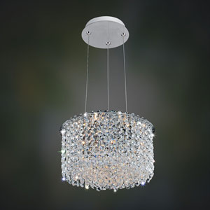 Milieu Metro Chrome Two-Light Pendant with Firenze Clear Crystal