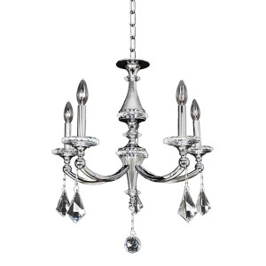 Floridia Polished Chrome Five-Light 22.5-Inch Wide Chandelier