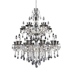 Locatelli Two-Tone Silver 18-Light Chandelier with Swarovski Strass Clear Crystal