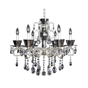 Locatelli Two-Tone Silver Six-Light 20-Inch Chandelier with Swarovski Strass Clear Crystal