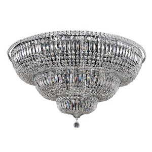 Betti Chrome 22-Light Flush Mount with Firenze Clear Crystal
