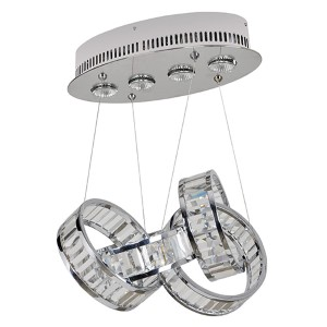 Anastagio Chrome Four-Light Pendant with Firenze Clear Crystal
