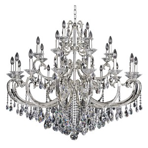 Cesti Silver 28-Light 48-Inch Wide Chandelier