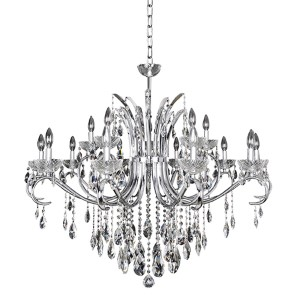 Catalani Chrome 15-Light 42-Inch Wide Chandelier with Firenze Clear Crystal