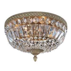 Lemire Chrome Four-Light Flush Mount with Firenze Clear Crystal