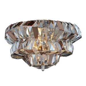 Gehry Chrome Two-Light 14-Inch Wide Wall Bracket with Firenze Mixed Crystal