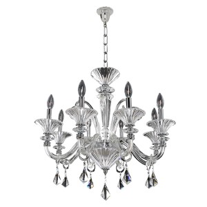 Chauvet Polished Chrome Eight-Light Chandelier with Firenze Clear Crystal