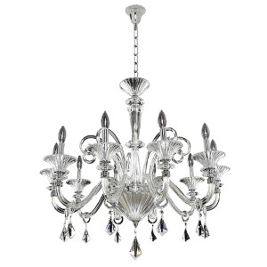 Chauvet Polished Chrome 10-Light 32.5-Inch Wide Chandelier