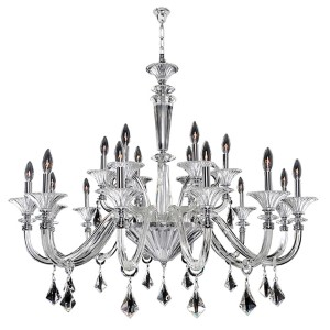 Chauvet Polished Chrome 18-Light 43-Inch Wide Chandelier