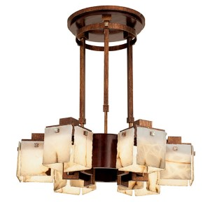 Bedford Tuscan Gold Six-Light Chandelier
