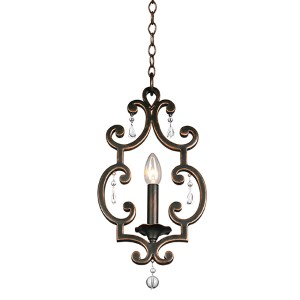 Montgomery Antique Copper One-Light Mini Pendant