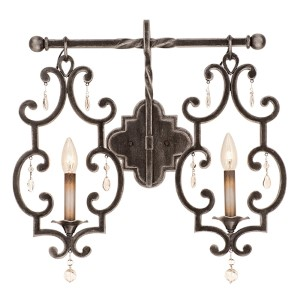 Montgomery Vintage Iron Two-Light Wall Sconce