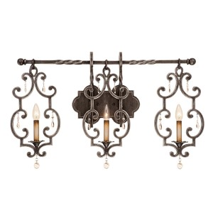 Montgomery Vintage Iron Three-Light Wall Sconce