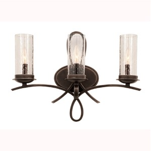 Grayson Heirloom Bronze Three-Light Bath Fixture