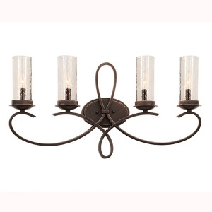 Grayson Heirloom Bronze Four-Light Bath Fixture