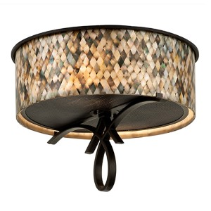 Grayson Heirloom Bronze Two-Light Flush Mount