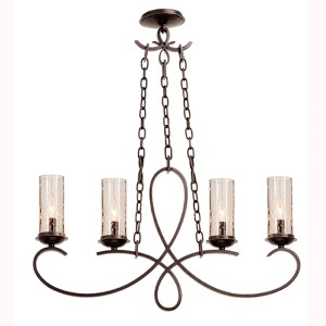 Grayson Heirloom Bronze Four-Light Island Pendant