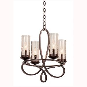 Grayson Heirloom Bronze Four-Light Chandelier