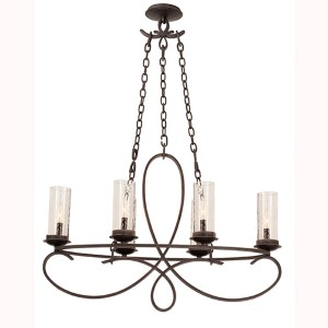 Grayson Heirloom Bronze Six-Light Chandelier