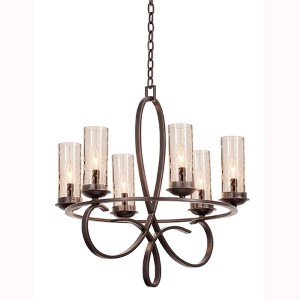 Grayson Heirloom Bronze Six-Light Round Chandelier