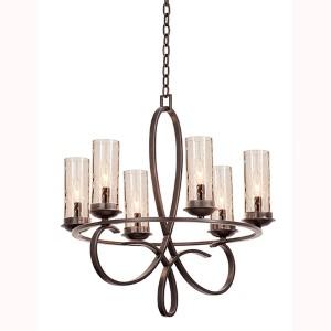 Grayson Heirloom Bronze Six-Light Round Chandelier