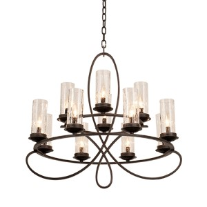 Grayson Heirloom Bronze 12-Light Chandelier