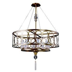 Dorrit Antique Brass Eight-Light Pendant