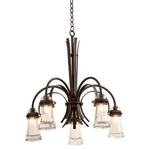 Dover Antique Copper Five-Light Chandelier