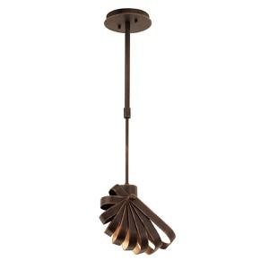 Brandt Antique Copper One-Light Mini Pendant