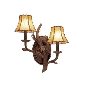 Ponderosa Two-Light Wall Bracket- Left