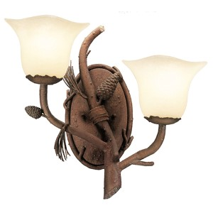 Ponderosa Two-Light Wall Bracket