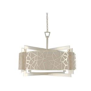 Miramar Rose Silver Six Light Pendant