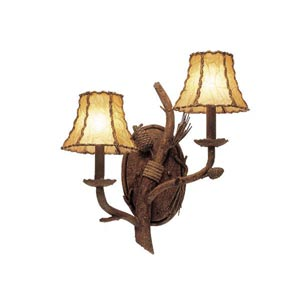 Ponderosa Two-Light Wall Bracket- Right