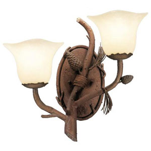 Ponderosa Right Mount Double Wall Sconce